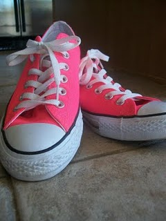 Hot Pink Chuck Taylor Converse shoes that look great
